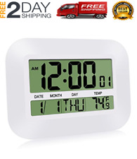 Silent Desk Clocks, Digital Wall Clock Battery Operated Simple- New