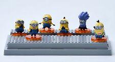 "Despicable Me 2 The Minions Role Figure Display Toy PVC 6Pcs Set 4cm/1.6"" New"