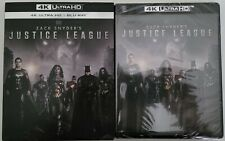 New Zack Snyder'S Justice League 4K 00006000  Ultra Hd Blu Ray 2 Disc Set + Slipcover