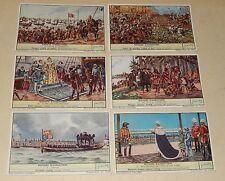 Série complète 6 Chromos LIEBIG : HISTOIRE D'ANGLETERRE - Azincourt - NELSON...