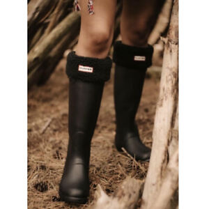 Hunter Original Tall Rain Boots Black/Dark Slate - Women's Size 8