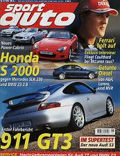 sport auto 6/99 1999 Porsche 911 GT3 Audi TT BMW Z3 2.8 Honda S2000 SLK 230 528i