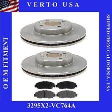 Set Of front Brake Rotors & Ceramic Pads  Acura EL 1997-2005, 3295X2-VC764A