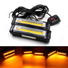 12V-24V 36W Car COB Amber LED Strobe Light Emergency Hazard Warning Flash Lamp