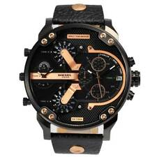 DIESEL DZ7350 Mr Daddy 2.0 Black Leather Rose Gold Chronograph Men's Watch