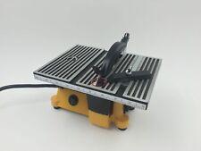 "4"" MINI TABLE SAW WITH 2 BLADES - 4500 RPM, WOBBLE-FREE PRECISION CUTS"