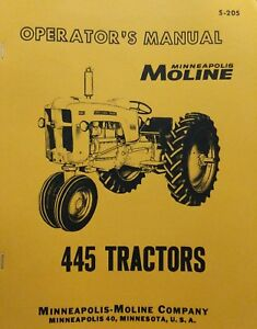 Minneapolis Moline MM 445 Powerlined Tractor Parts Book R-1157