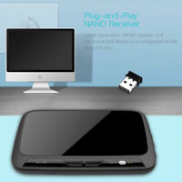 Touchpad Backlight 2.4G USB Air Mouse IR Sensor Vibrate Keyboard Remote Control