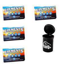 Elements 300 Rolling Papers (4) Packs With KC Pop Top Jar