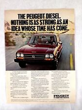 1979 Peugeot 504D Vintage Print Ad