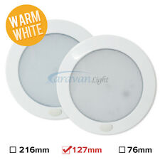 2X12v LED Interior Ceiling Lights Warm White Switched Van Caravan Cupboard Lamp