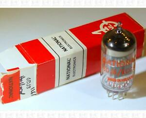 National 6DJ8 ECC88 Vacuum Tube Made In Holland Tested NOS +Box