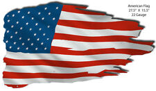 American Flag Laser Cut Out Reproduction Nostalgic Metal Sign 15.5x27. RVG277S