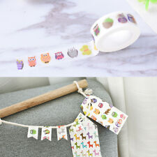 Ctue owl washi tape DIY decoration scrapbooking planner masking adhesive tape EP