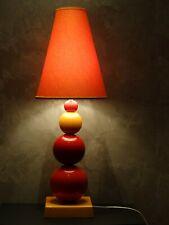 Grande lampe design  Albret  pied céramique  orange rouge jaune  ht 72 cm