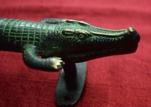 Alligator Shape Door Handle Nature Jungle Theme Handmade Brass Crocodile VR262