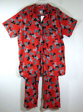 JOE BOXER SCOTTIE DOGS 100% COTTON KNIT PAJAMAS LOUNGE TOP PANTS SET~XS~SMALL~NW