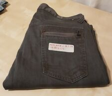 Mens REPLAY Dark Grey Jeans 100% Cotton Button Fly W33 L32