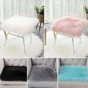 Soft Faux Fur Rug White Sheepskin Chair Cover Seat Pad Shaggy Area Rugs for Sofa