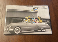 Vintage Walt Disney Mickey Mouse Magnet Donald Duck Minnie Goofy Pluto Car