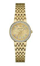 Bulova Women's Quartz Diamond Accent Gold Mother of Pearl Dial 26mm Watch 98R212