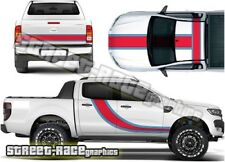 Ford F-150 Ranger Martini style 001 racing stripes vinyl graphics stickers