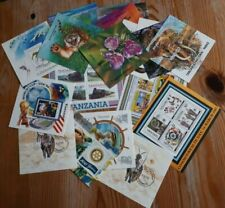 Collection of 18 Different Tanzania Souvenir Stamp Sheets - PC/MNH