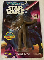 """1993 VINTAGE BEND-EMS STAR WARS JUSTOYS """"CHEWBACCA"""" COLLECTABLE POSEABLE"""