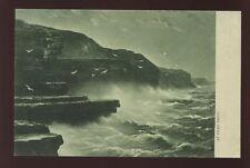 Yuorkshire FILEY BRIGG Tuck #6348 Emerald Rough Sea series vintage PPC