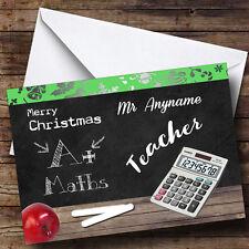 Matemáticas profesor personalizado de tarjeta de Navidad