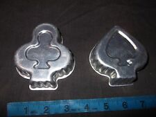 2 Tin Molds Baking Jello Cake Pans Spades & Clubs Playing Card Ace Of Spades