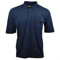 Mens Polo Shirt with Pocket BLUE polo Shirt  Bisley Sport WORK Classic NWT .