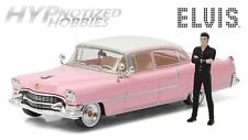 GREENLIGHT 1:43 1955 CADILLAC FLEETWOOD SERIES 60 W/ FIGURE DIE-CAST PINK 86436