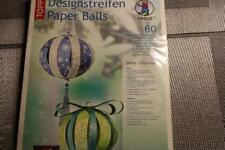 """Paper-Balls """"White Christmas""""  60 Papierstreifen versch. Farben u. Design"""