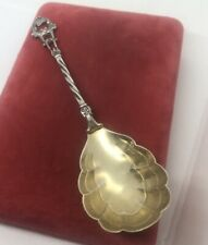 ANTIQUE GERMANY ORNATE SPOON 7.5'' 800 SILVER