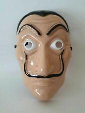 Maschera Casa di Carta Salvador Dali Carnevale Halloween Papel con elastico (A)