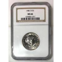 1981 D Susan B Anthony Dollar NGC MS66 ***Rev Tye's Coin Stache*** #101115