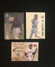 Ken Griffey Jr Baseball Card Lot, Mariners, Donruss, 1991, 1994, 2002