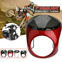 """7"""" Scheinwerfer Verkleidung Universal Lampenmaske Für Harley Honda Yamaha USW"""