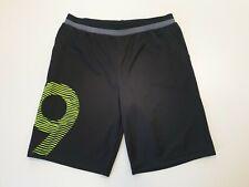 L580 Chicos Adidas Negro Verde No.9 Stretch Pantalones Cortos Deporte Cordón 15-16 años