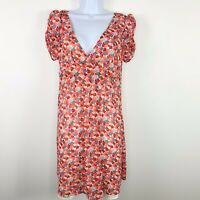 American Eagle Outfitters Womens Dress Sz 8 Multicolor Short Sleeve Floral LR32