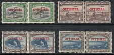 SOUTH WEST AFRICA 1945-50 LOT OFFICIAL STAMP PAIRS MNH