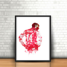 Thierry Henry - Arsenal Inspired Football Art Print Design The Gunners Number 14