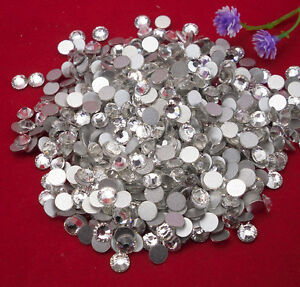 Silver-plated bottom Multiple facets CLear AAA Crystal Flat Back Rhinestones