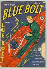 Blue Bolt #12 May 1941 PR/FR Blue Bolt, Dick Cole, Sub-Zero