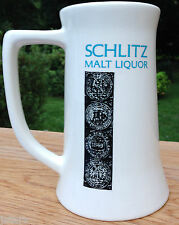 c. 1970s SCHLITZ MALT LIQUOR BEER ADVERTISING CERAMIC MUG