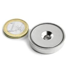 Super Magnete al Neodimio CSN-32 POTENZA 30 Kg FORO SVASATO + BASE IN ACCIAIO