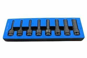 "US PRO Tools 8pc 1/2"" SAE Impact Hex Allen Bit Sockets 1/4"" 3/4"" Imperial 3387"