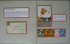 BP38) Ballonpost 37 Belege Gordon Bennett Ausstellungssammlung