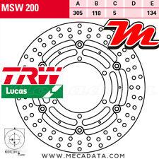 Disque de frein Avant TRW Lucas MSW 200 BMW K 1100 RS (BMW100) 1993